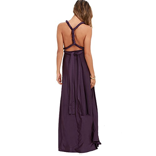 Vestido Splitted de Púrpura Vestidos Alta Bola Juleya Cómodo Mujer Vestido Sexy Elegante Fiesta Largo Maxi A Vestido Túnicas Cóctel Asimétrico O6RSYwq