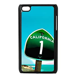 California Road Atlas Map Trip ipod touch 4 Phone Protector Cover