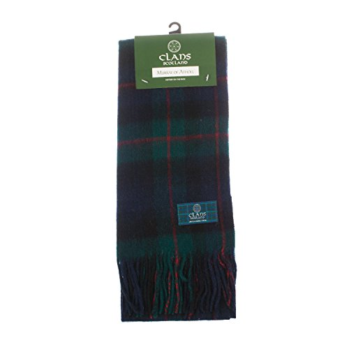 Murray Of Atholl Tartan (Clans Of Scotland Pure New Wool Scottish Tartan Scarf Murray Of Atholl (One Size))