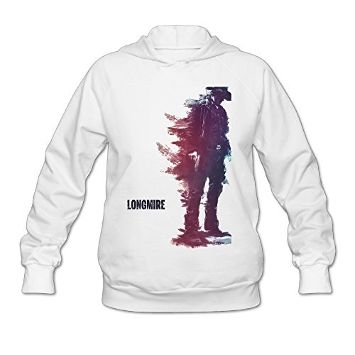 SAMMOI Longmire 1 Men's Fashion Fleece Sweatshirt S White (Clogs Womens Dawgs Fleece)