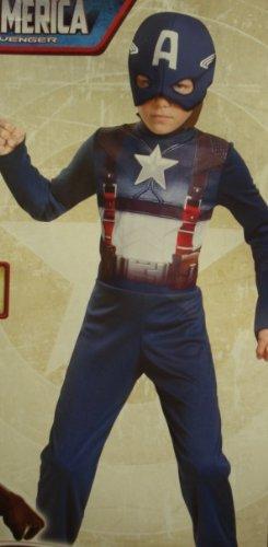 Captain Planet Halloween Costumes (Retro Captain America Child - Medium)
