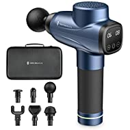 Massage Gun, TaoTronics Percussion Massager with 10 Levels and 6 Massage Heads, Muscle Massage Gun with Portable Case for Gym Office Home Post-Workout Pain Relief