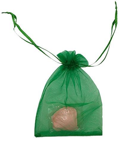 Green Organza Bags 4X6 - 4