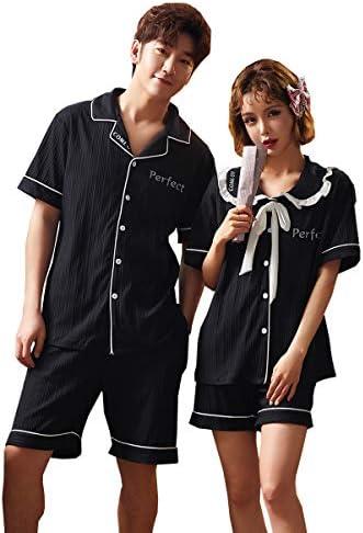 ペアパジャマ カップル レディース メンズ 夏 半袖 短パンツ 上下セット 可愛い ペア パジャマ お揃い 寝巻き 部屋着 ルームウェア 結婚祝い ギフト プレゼント