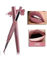 1x Lip Liner Pencil ,Matoen Double-end Lasting Lipliner Waterproof Lip Liner Stick Pencil (F)