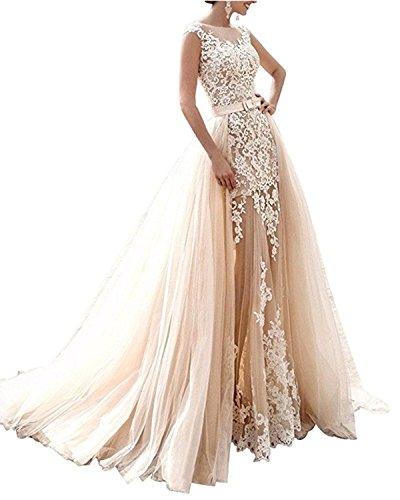 86185a92c7 Wedding Dresses Detachable Skirt | #1 Top Best Wedding Dresses ...