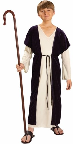 [Kids Biblical Shepherd Costume Boys Christmas Outfit M Boys 8-10] (Shepherd Child Costumes)