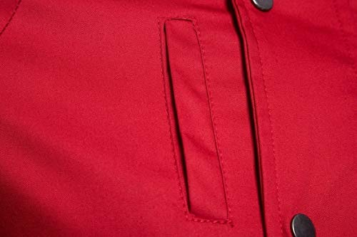 Plus Men Jacket Cotton Sleeve Red Outwear Size Solid Hoode Long Howme dIHqaww