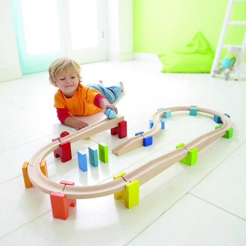 - HABA My First Ball Track - Large Starter Set 30 Piece Building System (Made in Germany)