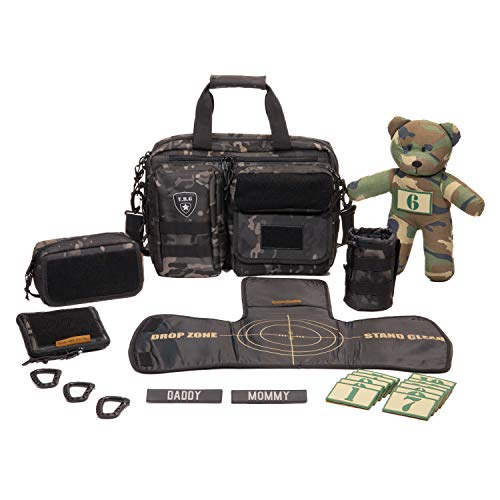 Big Daddy Gear - Tactical Baby Gear Full Load Out 2.0 Tactical Diaper Bag Set (Black Camo)