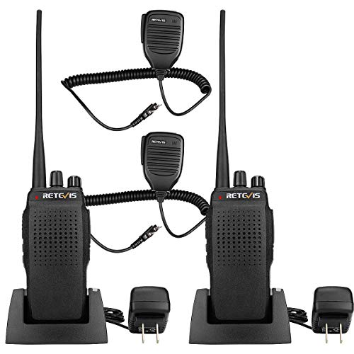 Retevis RT26 Two Way Radios 3000mAh UHF High Power Long Range Walkie Talkies with Mic (2 Pack) (Filter Channel Elimination)