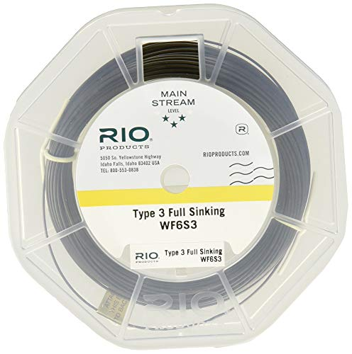 RIO Products Fly Line Mainstream Type 3 Full Sinking Line Wf6S3, Brown ()
