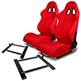 Pair of RST1RD Racing Seats+Mounting Bracket for Scion FR-S/Subaru BRZ