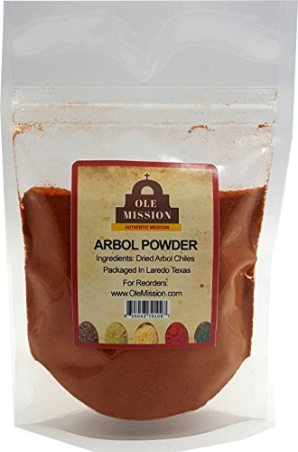 Chile De Arbol Powder Mix 1.5 oz With Red Chili Peppers Great For Mexican Recipes by Ole Mission (Difference Between Red Chili And Cayenne Pepper)