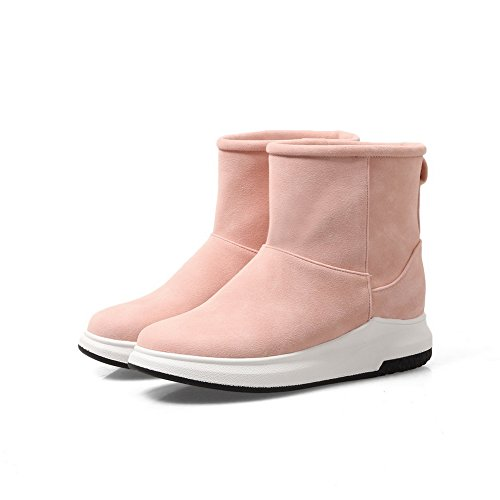 Heel Snow Closed Lining Weight No Boots 1TO9 Water Toe Snow Light Nubuck Pink MNS02631 Womens Warm Urethane Resistant Closure Boots Bootie Low Not tCwqv8H