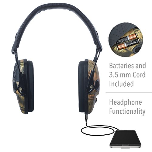 Howard Leight by Honeywell Impact Sport Sound Amplification Electronic Shooting Earmuff, Camo (R-01530)