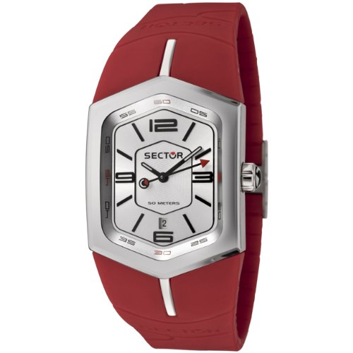 Sector Men's R3251101015 Winch Master Collection Red Polyurethane Watch