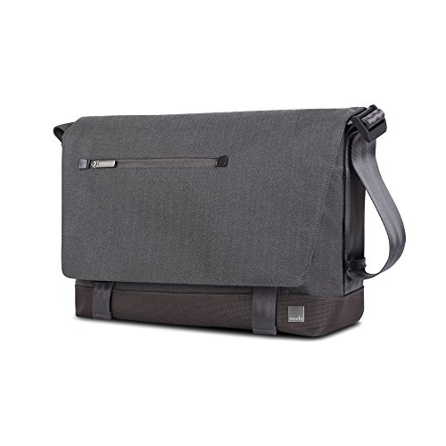 Moshi Aerio Messenger Bag (Fits up to 15'' Macbook, Chromebook, Laptop) - Gray by Moshi