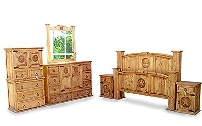 King Size Mansion Rustic Bedroom Set Free Delivery 6 Pcs