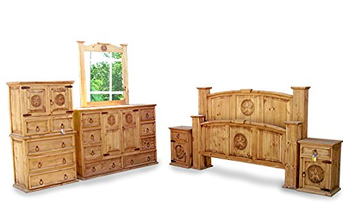 King Size Mansion Rustic Bedroom Set Free Delivery 6 Pcs (king)