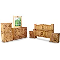 Queen Size Mansion Rustic Bedroom Set Free Delivery 6 Pcs (Queen)
