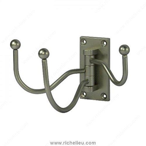 Richelieu Hardware Nystrom Pewter Cresent Triple Swivel Hook