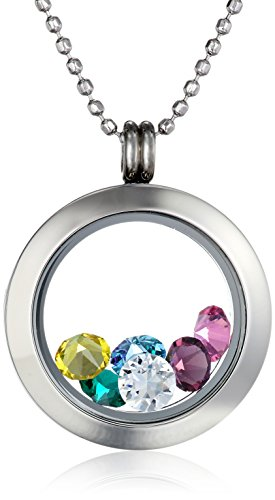 Amazon Lightning Deal 93% claimed: Charmed Round with Multi-Color Crystals Locket Necklace 24
