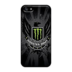 High Quality Hard Phone Cover For Iphone 5/5s (VDW14955CLXn) Allow Personal Design Lifelike Monster Army Image