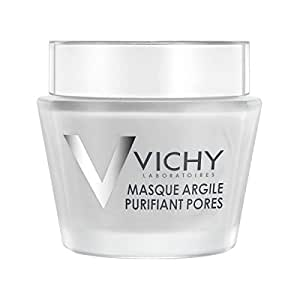 Vichy Mineral Infused Clay Face Mask with Aloe Vera, 2.54 Fl. Oz.