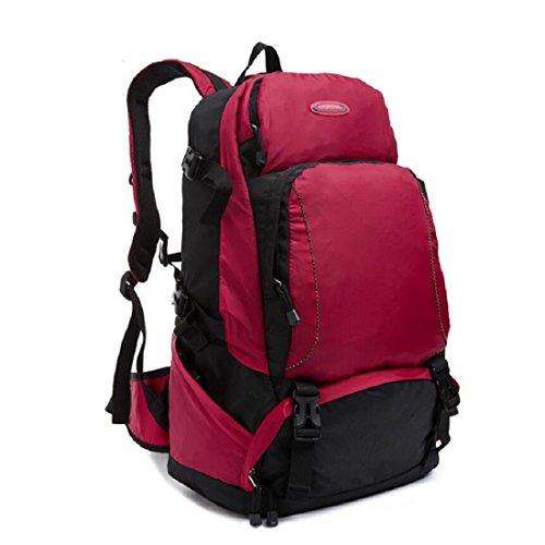 Z&N Backpack Nylon Impermeable Alta Calidad Ligero Casual Mochila Al Aire Libre Escalada Camping Senderismo Deportes Bolsa Almacenamiento Mochila Embolsada Multi 30L Capacidad C 30L A