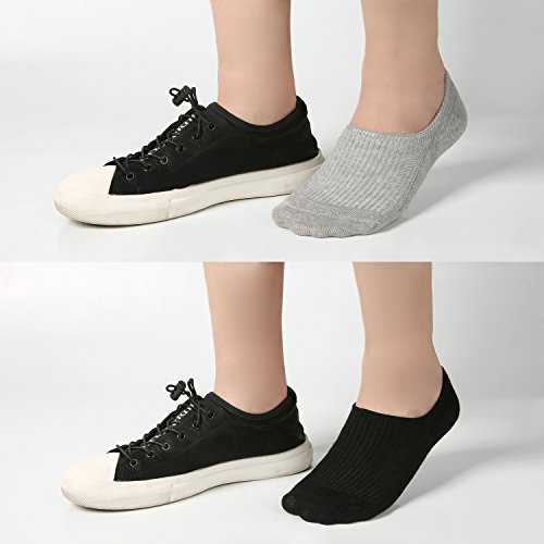 Women's No Show Casual Socks 8 Pairs Low Cut Liner Cotton Ankle Socks Invisible Non Slip by Azue (Image #6)