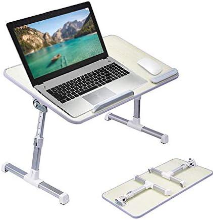ノートパソコンのベッドテーブル、折り畳み式の脚と朝食トレイ、デスクを立ちポータブルラップ、ソファーソファフロア子供のためのノートブックスタンド読むホルダー