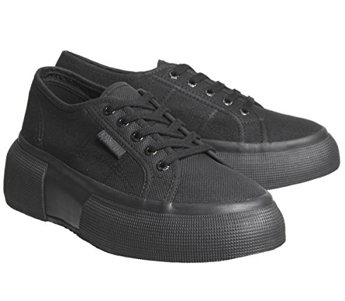 Donna Superga Cotw Black Total Sneaker 2287 wqaOttx0g7