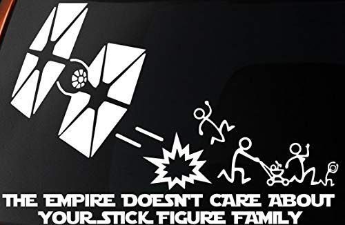 LEVEL 33 Vinyl Decal - Star Wars Inspired 'The Empire Doesnt Care About Your Stick Figure Family