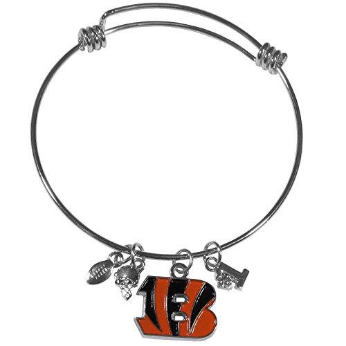 NFL Cincinnati Bengals Charm Bangle Bracelet (Cincinnati Bengals Charm)