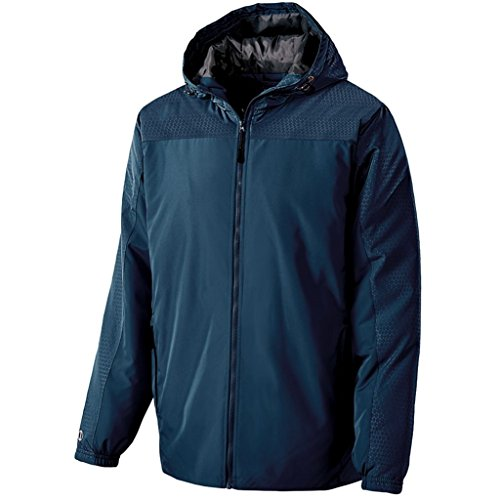 Holloway Youth Bionic Hooded Jacket (Medium, Navy/Carbon) by Holloway