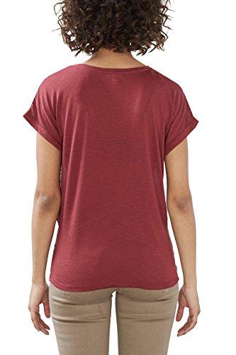 ESPRIT 027ee1k010, Camiseta para Mujer Multicolor (Garnet Red)