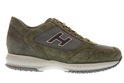 Sneakers Basse Uomo Hogan Hxm00n0q102h5i0pcm Nuovo Interattivo Verde Muschio