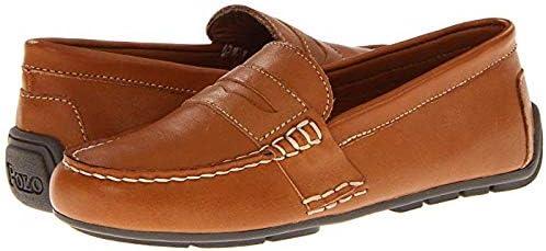 [ポロラルフローレン] キッズローファー・靴 Telly (Little Kid) Tan Burnished Leather 20.5cm M [並行輸入品]