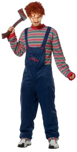 Costume Culture Men's Licensed Chucky Costume, Blue, Standard