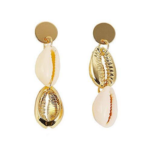Crookston Fashion Pearl Shell Asymmetry Geometric Stud Drop Earrings Woman Jewelry Gift | Model ERRNGS - 1247 |