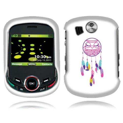 Fincibo (TM) Pantech Jest 2 TXT8045 Premium Hard Plastic Snap On Protector Cover Case Front And Back - Owl Dream Catcher