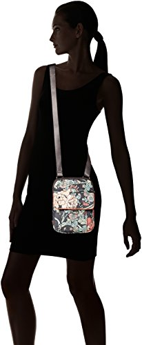 Wynnie Sakroots Flap Small Flower Power Coated Messenger Canvas Charcoal HwUfz6nq