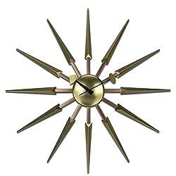 24 Modern Starburst Wall Clock (Golden)