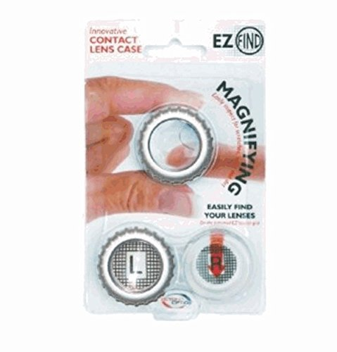 3 Pack Beyond Optics Gray Magnify Contact Lens case Small Compact Size Travel - Gray Lenses