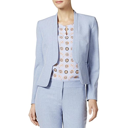 Nine West Women's Flange Kiss Front Jacket, Breeze, 6 by Nine West