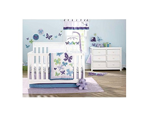Sheet Set Butterfly Crib Infant - NoJo Beautiful Butterfly 9-Piece Crib Bedding Set