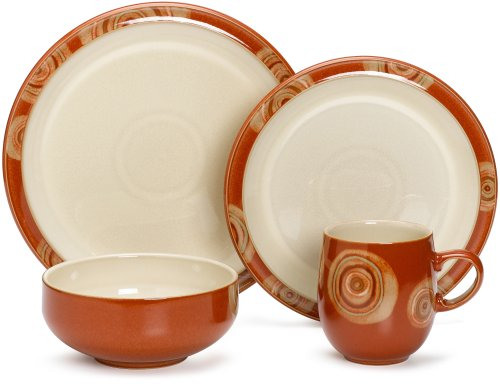 - Denby Fire Chilli 4-Piece Place Setting, Service for 1
