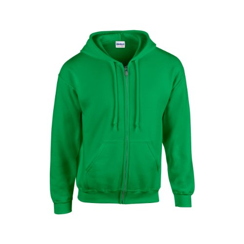 Gildan Heavy Blend Unisex Adult Full Zip Hooded Sweatshirt Top (L) (Irish Green)