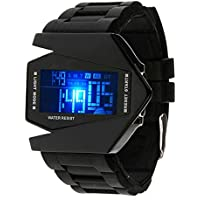 Kids digital Sport Watch Warcraft Fighter Multi Function LED 50 m al aire última intervensión impermeable Electronic silicona de cuarzo analógico muñeca relojes para niños niños niños niñas los niños